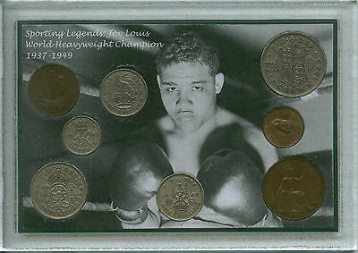 Joe Louis Vintage Heavyweight Champion of the World Boxing Coin Gift Set 1949