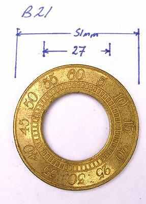 b21    Replacement brass Long case clock dial seconds ring 50mm outer diameter