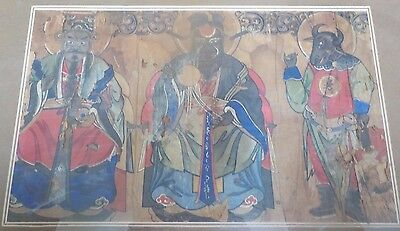 Chinese Occult Painting Scroll old Sorcery Crystal Ball antique