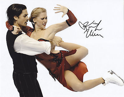 Kaitlyn Weaver SIGNED AUTOGRAPHED SKATING 2014 OLYMPICS 8X10 PHOTO PROOF #2