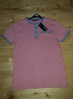 New with tags Boys T-shirt Aged 12-13 years Red with denim detail