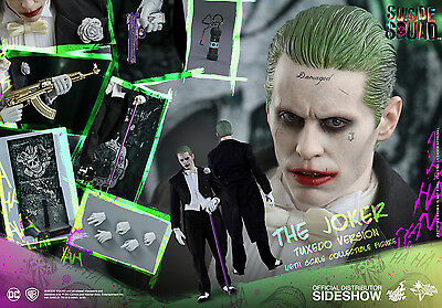 HOT TOYS DC SUICIDE SQUAD JOKER TUXEDO VERSION 1:6 FIGURE ~Sealed in Brown Box~
