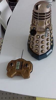 Dr Who gold large supreme guardian dalek rc lights sounds 12""