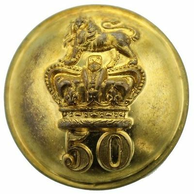 VICTORIAN 50th Regiment of Foot (Queens Own) OFFICERS Button 25mm AC45