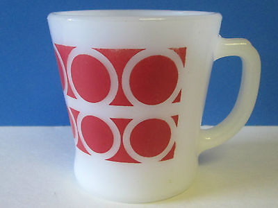 Vintage  Fire King Mug Ring Red  Mug