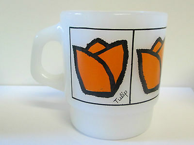 Vintage  Fire King Mug Tulip