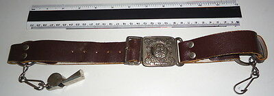 Vintage Girl Guide Leather Belt with Acme Thunderer Whistle