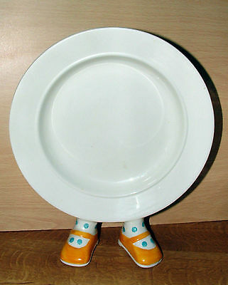 Carlton Walking Ware Plate 70s / 80s Yellow Shoes 24.5 cms Tall Nice Condition