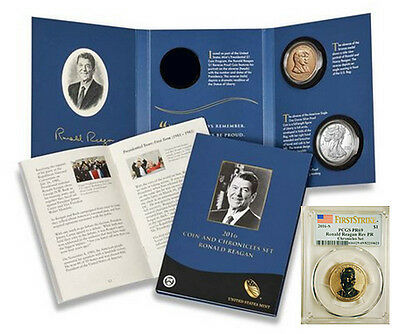 2016 Ronald Reagan Coin & Chronicles Set with PCGS PR69 REVERSE PROOF $1