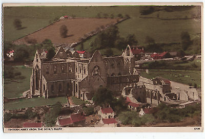 (P1767) Tintern Abbey from the Devil's Pulpit. Early 1900s Postcard