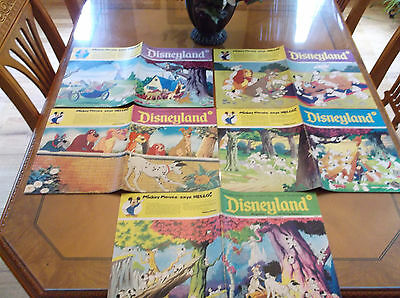 Vintage 1970's Disneyland 5 Magazine Lot 101 Dalmatians Aristocats Exc Condition