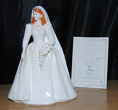 Coalport Royal Bride Sarah Ferguson Duchess Of York Wedding Figurine LE