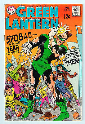GREEN LANTERN # 66 Silver Age comic in FN- condition 1969
