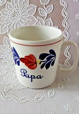 """Papa"" Father BOCH in BOERENBONT design BELGIUM COFFEE MUG APPROXIMATELY 3"" TALL"