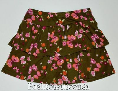 Gymboree 6 Skort Butterfly Girl Floral Tiered Girls kfp1