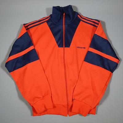 Mens ADIDAS Vintage Retro Polyester Tracksuit Top Jacket Large #C2060