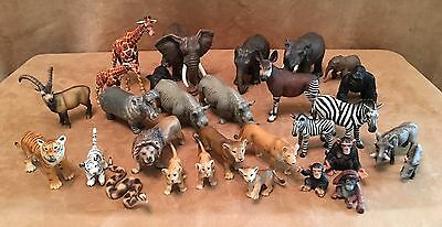 Schleich Jungle Animal lot 30 action figures playset elephant monkey giraffe