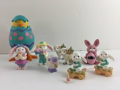 Hallmark Keepsake 8 Merry Miniatures Easter Crayola Bunny Mixed Lot