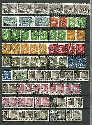 KO 7 Finland Suomi Finish Finlande beautiful selection of used stamps