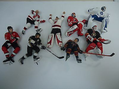 Large Lot Of Mcfarlane Hockey Figures-Crosby-Brodeur-Belfour-Parts