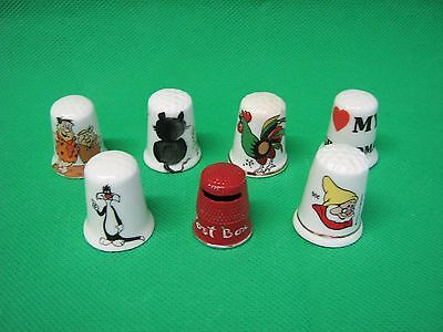 small lot of  thimbles