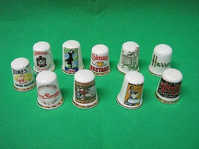 small lot of  thimbles Harrods ect