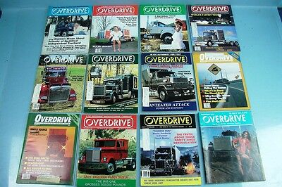 Lot Of 12 Vintage Overdrive American Truckers Magazine 1986+1979 Monthly Issues