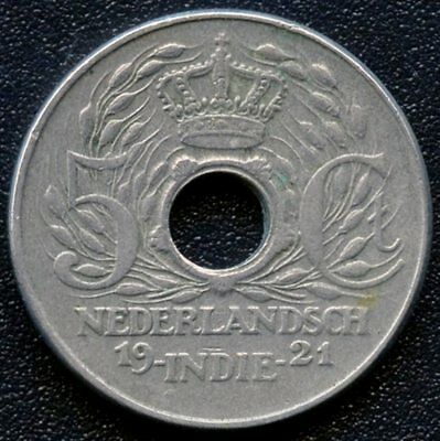 1921 Netherland East Indies 5 Cent Coin