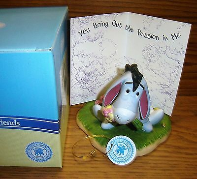 """Disney ENESCO Pooh & Friends EEYORE """"You Bring Out The Passion In Me"""" Figurine"""