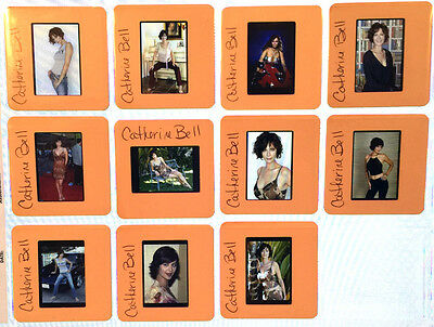 CATHERINE BELL set of 11  35mm promo Transparency Photo COLOR SLIDES