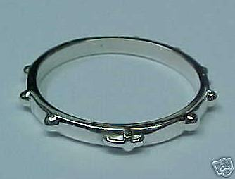 Rosary Ring Solid Sterling Silver size 8