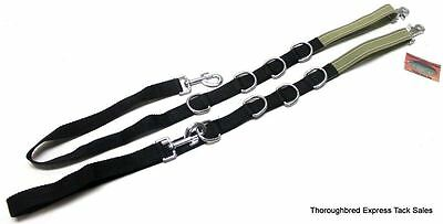 D.A. Brand Elastic and Nylon Web Adjustable PONY Side Reins Horse Tack Equine