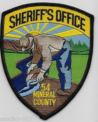 Mineral County Sheriff State of MONTANA MT Shoulder Patch Prospector