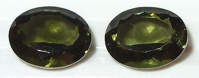 4.10ct Pair Faceted TOP QUALITY Natural Czechoslovakia Moldavite Oval Cut 10x8mm