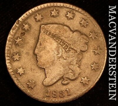 1831 Coronet Head Large Cent - Scarce!!  Better Date!!  #t9966