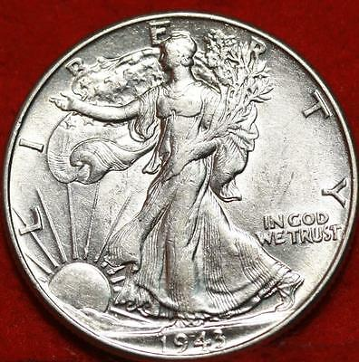 Uncirculated 1943 Philadelphia Mint Silver Walking Liberty Half Free S/H
