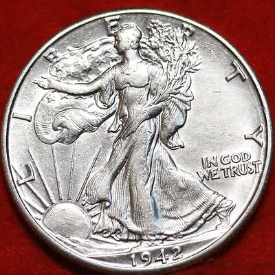 Uncirculated 1942-D Denver Mint Silver Walking Liberty Half Free S/H