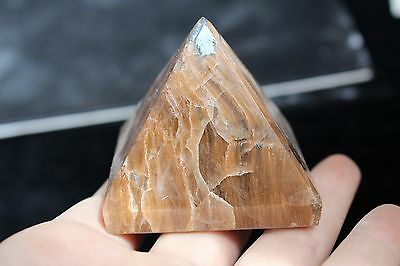 172g BEST!!! NATURAL RARE red rabbit hair CRYSTAL pyramid HEALING ZE1