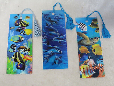 3D bookmarks- 8 Marine themes to choose from