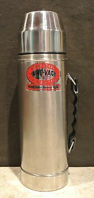 Vintage Uno-Vac 20oz Thermos All Stainless Steel Unbreakable