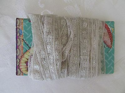 Antique Valenciennes Lace Trim Edging For Doll Clothes Crafts 6+ Yards