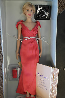 Franklin Mint Princess Diana Vinyl Doll PRINCESS Of RADIANCE LE 36/75 Shipper