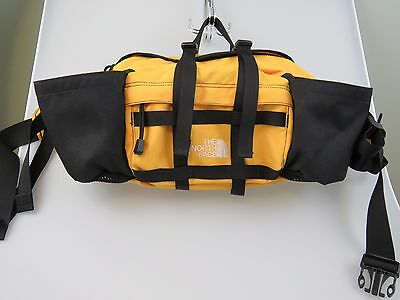 THE NORTH FACE Black Yellow Travel Hiking Lumbar Waist Bag Fanny Pack Large