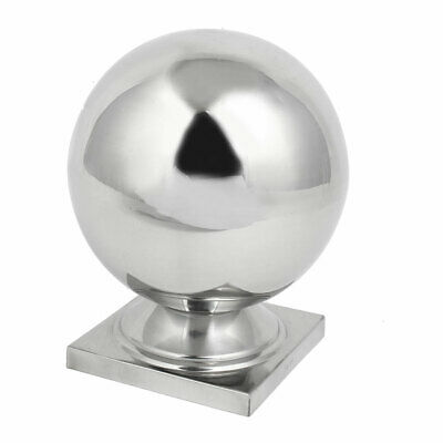 100mmx100mm Ball Cap 304 Stainless Steel Silver Tone for Stair Newel Fence Post