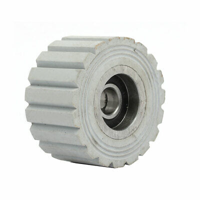 60mmx12mmx32mm Bearing Steel Rubber Straight Line Pinch Roller Pulley Gray