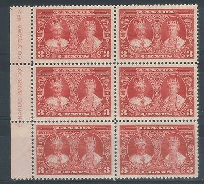 CANADA (SGB63) SG 337 - 1935 3c red Plate block 2 - 5 NH