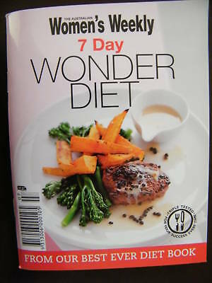7 Day Wonder Diet  Women's Weekly Mini Cookbook Small Softcover