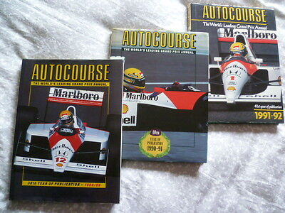 ***** 'The 3 SENNA Years' AUTOCOURSE Annuals in EXCELLENT condition *****