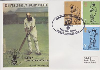Gb Stamps First Day Cover 1973 Official Tccb Cricket Cover Kennington Rares
