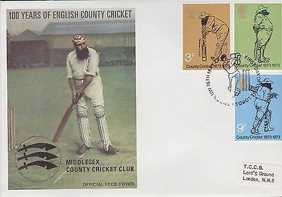 Gb Stamps First Day Cover 1973 Official Tccb Cricket Cover London Rares